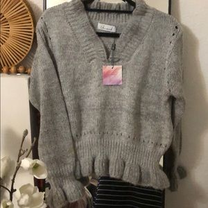 Chicwish Ruffle chunky sweater